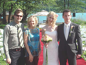 Wedding of Irina and Christian with Miriam and duetvoice Peter
