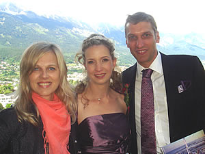 Julia and Peter with Miriam high over Innsbruck 29-May-2010